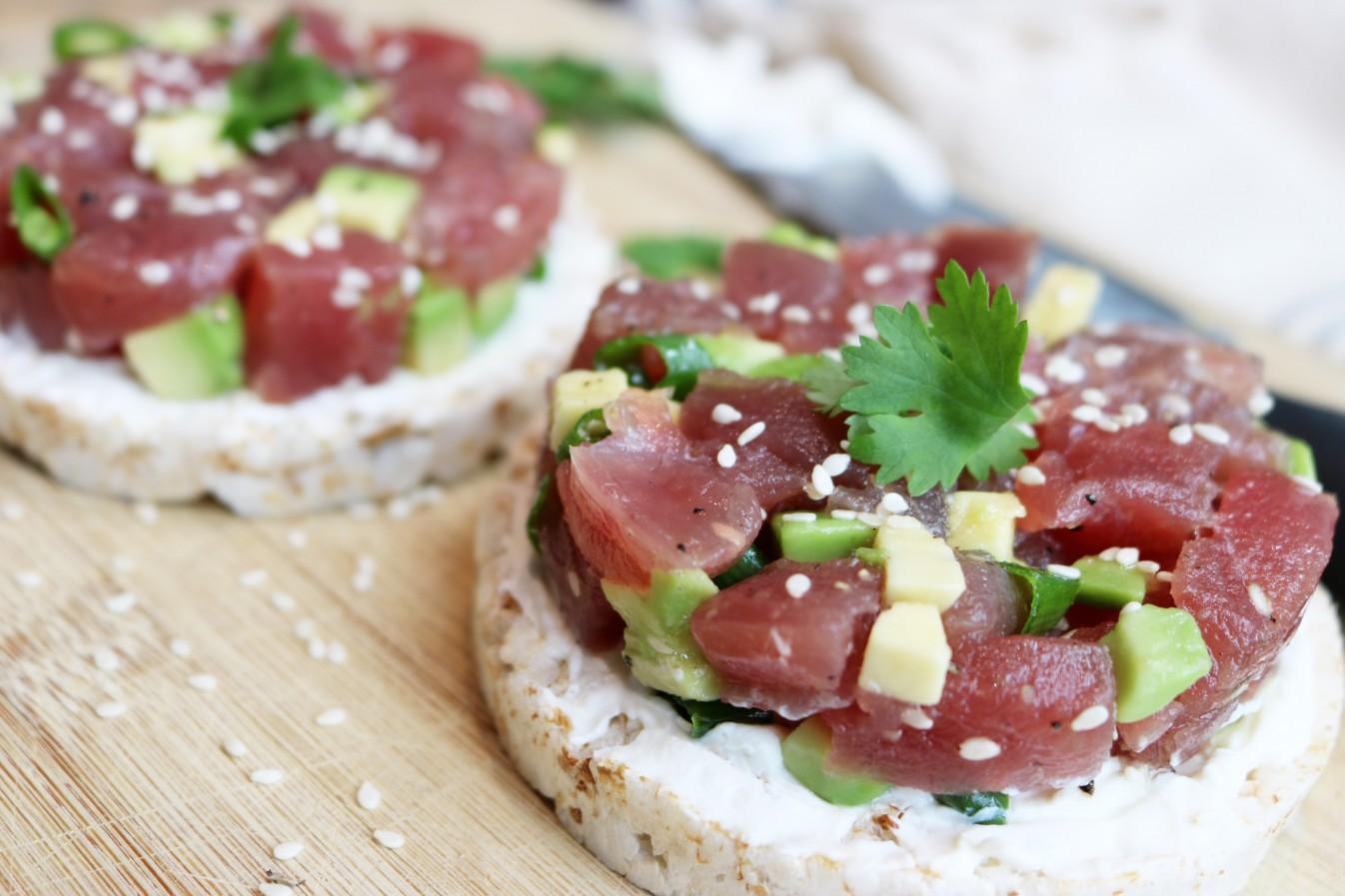 healthy tuna tartlets