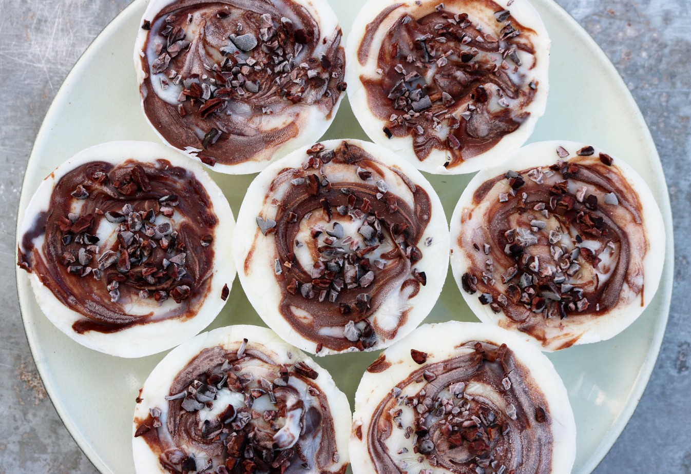 Low calorie FROYO Nutella cupcakes