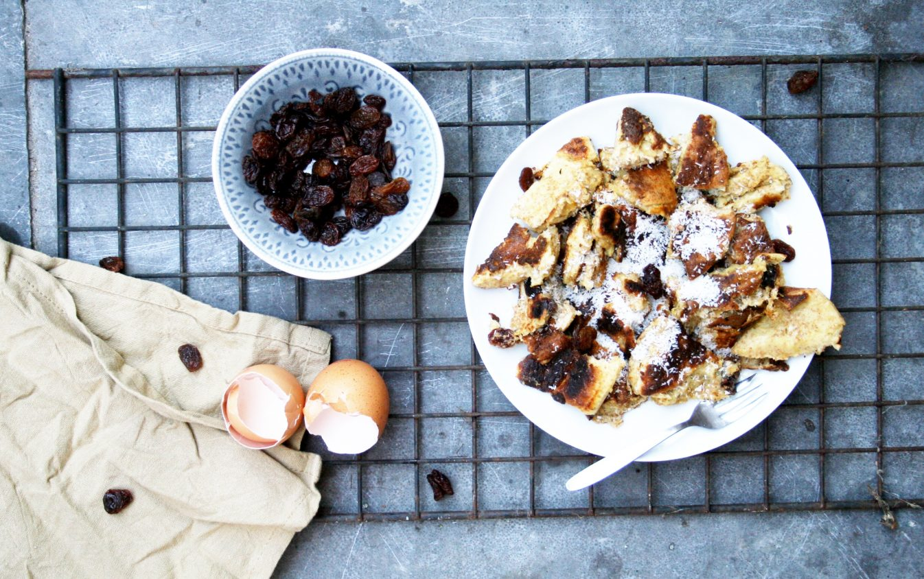Healthy alternative for fluffy raisin kaiserschmarrn